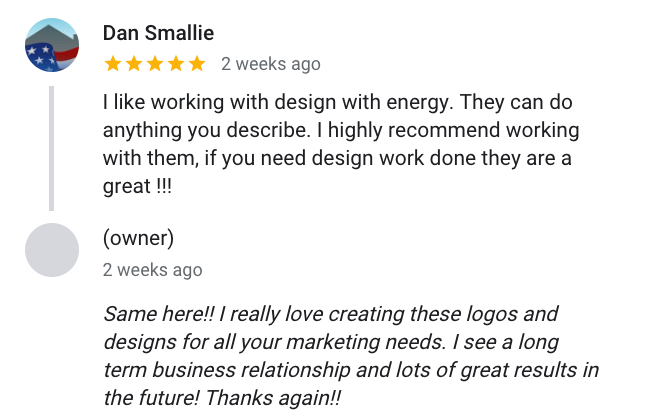 Dan Smallie said in his review of Design With Energy I like working with design with energy. They can do anything you describe. I highly recommend working with them, if you need design work done they are a great !!!
